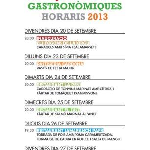 IX Jornades Gastronòmiques 2013
