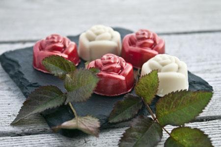 Bombons de gelea de roses