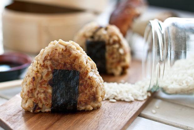 Onigiri de risotto de ceps