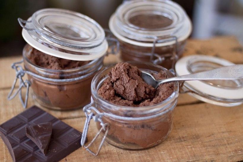 Mousse de xocolata i aigua